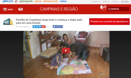 G1 – Globo EPTV: Família de Campinas larga tudo e começa a viajar pelo país em uma Kombi